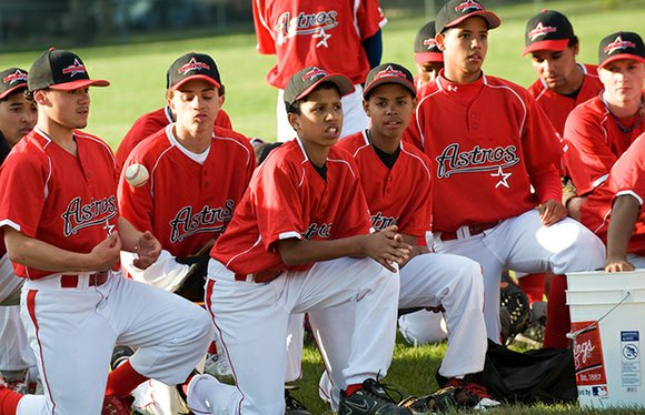 Robert Lewis Jr., founder of the Boston Astros baseball program, believes in the power of sports to help boys succeed ...