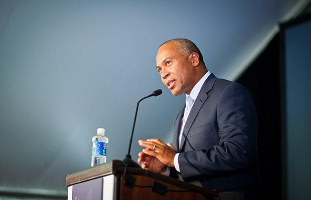 Governor Deval Patrick celebrated the expansion of athenahealth last week at its facilities in Watertown. At the event, he spoke about his administration's efforts to expand the online health sector.