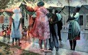"""John Biggers's """"Shotgun, Third Ward #1, 1966"""" (Photo courtesy of the Peabody Essex Museum)"""