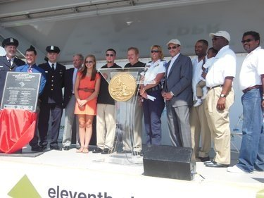 D.C. Mayor Vincent C. Gray, Metropolitan Police Chief Cathy L. Lanier and others joined residents and representatives of businesses from ...