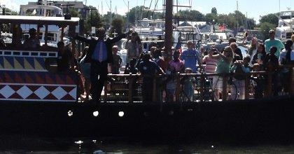 Mayor Cohen walking the plank
