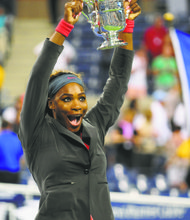 Serena Williams won her fifth U.S. Open, her 17th Grand Slam championship. She also received a $1 million bonus for her win over Victoria Azarenka.