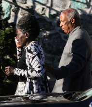 Assemblywoman Inez Barron & husband Council Member Charles Barron leave the wake
