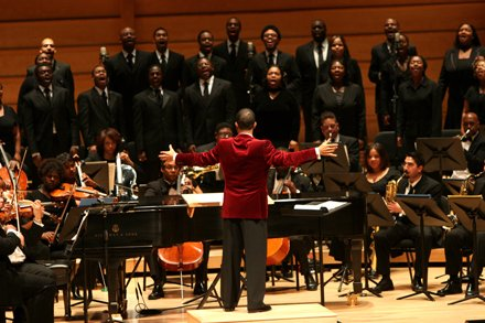 Darin Atwater is the founder and conductor of the Baltimore Symphony Orchestra's Soulful Symphony.