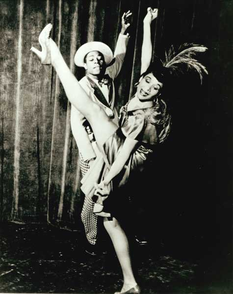 Vanoye Aikens with Katherine Dunham, 1948