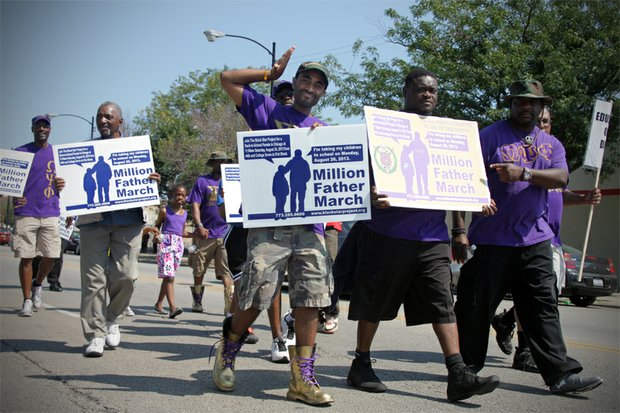 Fathers walking at the Million Father March