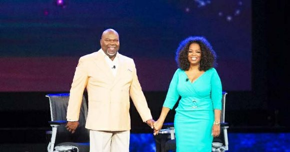 Oprah Winfrey and Bishop T.D. Jakes tackled the issue of fatherless households before thousands of people in two episode tapings ...