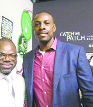 Reel Code app inventor Isaac Daniel with Nets NBA All Star Paul Pierce