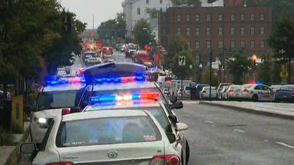 Twelve people were killed Monday, September 16, 2013, after at least one shooter opened fire in a rampage at a Navy yard in the nation's capital, putting government buildings on lockdown and sending police SWAT teams rushing to the scene.