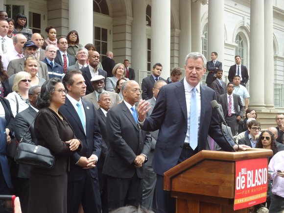 Democratic mayoral nominee Bill de Blasio thinks he is sitting pretty. After saying that every vote counts, runner-up Bill Thompson ...