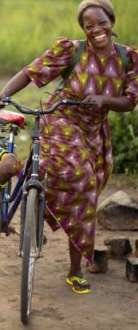 A Roman Catholic nun who rides a bicycle deep into the bush in the northeastern part of the Democratic Republic ...