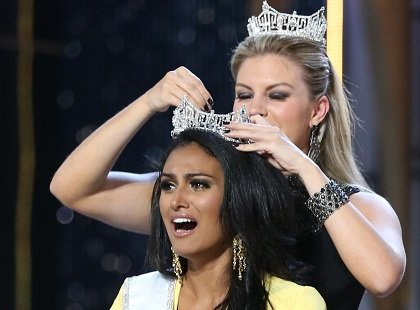 Nina Davuluri is crowned Miss America 2014 on Saturday, September 15, 2013.