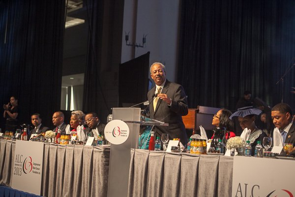 Rep. Chaka Fattah, chair of the Congressional Black Caucus Foundation, speaks during the ALC 2013 Prayer Breakfast at the Walter E. Washington Convention Center on Saturday, Sept. 21.