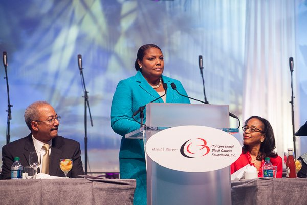 Rev. Zina Pierre opens the ALC 2013 Prayer Breakfast with a call to worship at the Walter E. Washington Convention Center on Saturday, Sept. 21.