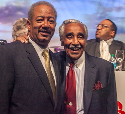Rep. Chaka Fattah, Chair, Congressional Black Caucus Foundation with Rep. Charles B. Rangel at the ALC 2013 Prayer Breakfast at the Walter E. Washington Convention Center on Saturday, Sept. 21.