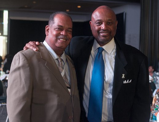 Washington Informer Advertising and Business Manager, Ron Burke with motivational speaker, Willie Jolley at the ALC 2013 Prayer Breakfast held at the Walter E. Washington Convention Center on Saturday, Sept. 21.