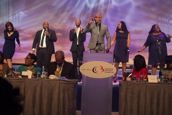 Anthony Brown and Group therAPy minister in song at the ALC 2013 Prayer Breakfast held the Walter E. Washington Convention Center on Saturday, Sept. 21.