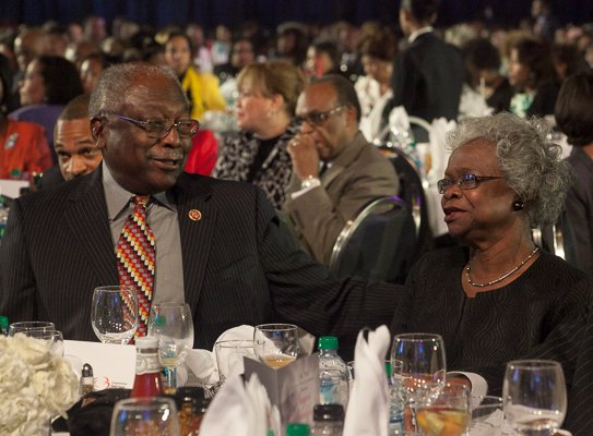Rep. James E. Clyburn and his wife Emily at the ALC 2013 Prayer Breakfast held at the Walter E. Washington Convention Center on Saturday, Sept. 21.