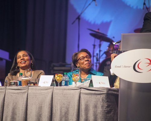 Congressional Black Caucus Foundation President and CEO, A. Shuanise Washington and Congressional Black Caucus Chairwoman Rep. Marcia L. Fudge at the ALC 2013 Prayer Breakfast held at the Walter E. Washington Convention Center on Saturday, Sept. 21.