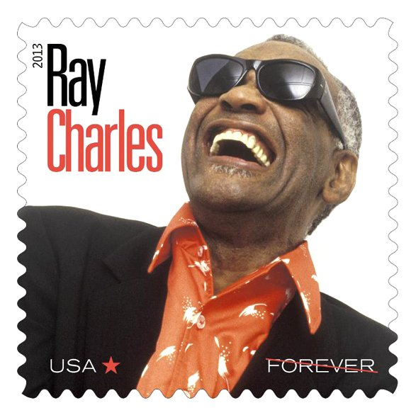 A limited edition stamp honoring the late Ray Charles was issued Monday at the Grammy Museum at L.A. Live in ...