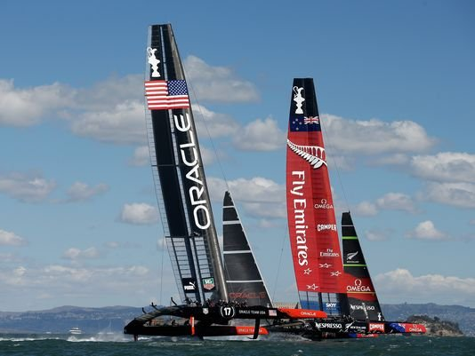 There are comebacks -- and then there are comebacks. As the stars and stripes billowed in the San Francisco wind, ...
