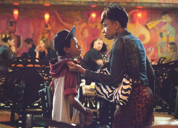 "Jennifer Hudson stars as Gloria alongside Skylan Brooks as Mister in ""The Inevitable Defeat of Mister & Pete."""