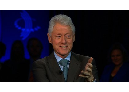 Former President Bill Clinton thinks his wife would be a better president right now but in the long term, it's ...