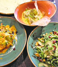 Small plates and salad
