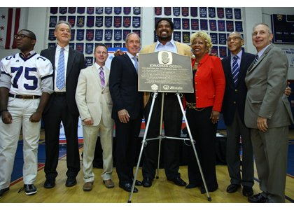 Professional football legend and former Baltimore Raven Jonathan Ogden was recognized by the Pro Football Hall of Fame and Allstate ...