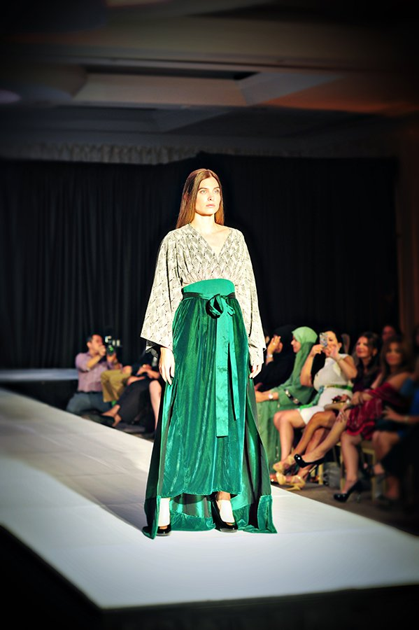 Designers such as Abeer Al Suwaidi, House of Fatam and Sugar Vintage Couture showed off their new lines on Wednesday, Sept. 25, at the Park Hyatt Hotel in Northwest, part of a showcase during D.C. Fashion Week for Emirates designers.