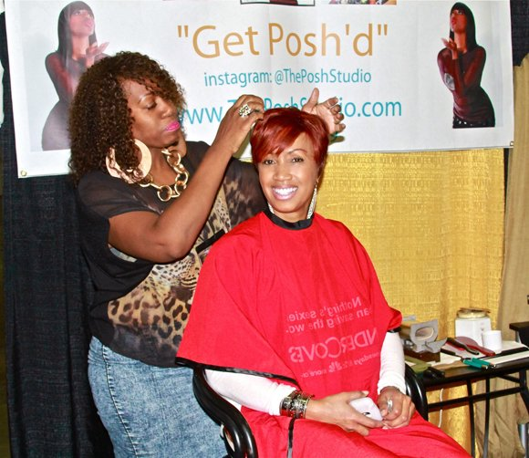 A Get Posh'd stylist works her magic at the Expo.
