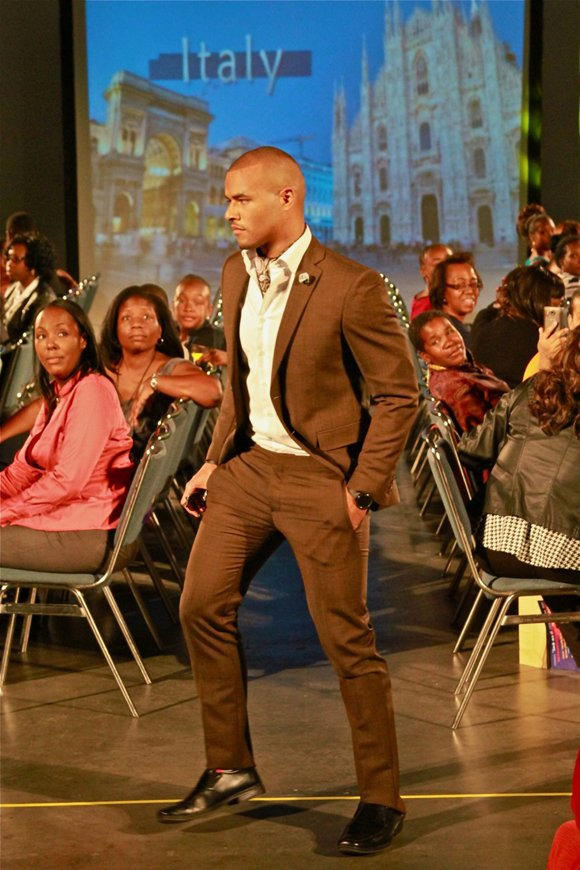 "West Coast Expo Lights, Camera, Runway! fashion show model ""Young and the Restless"" actor Redaric Williams."