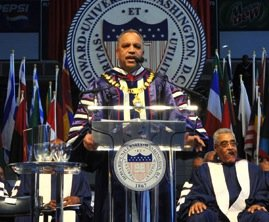 Howard University President Sidney A. Ribeau stepped down Tuesday after five years in the position, following reports of a contentious ...