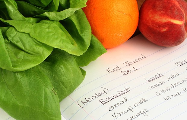 Keep a food journal to track all you eat and drink each day. The journal will let you see where extra calories are coming from and help you become aware of your habits. Most people underestimate the amount of food they consume daily.