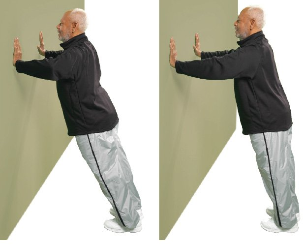 Wall Push-Up These push-ups will strengthen your arms, shoulders and chest.
