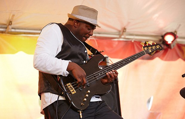 Bassist Charnett Mofitt performs with the Will Calhoun Trio during the Beantown Jazz Festival last week. The three-day festival brought top jazz musicians to multiple stages on Columbus Ave. in Lower Roxbury, Scullers Jazz Club and the Berklee Performance Center.