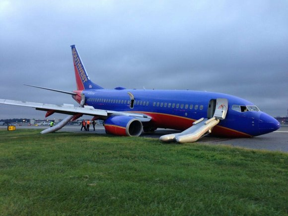 The captain of a Southwest Airlines flight that made a hard landing at LaGuardia Airport in New York in July ...