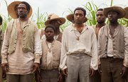"Chiwetel Ejrofor (3rd from right) as Solomon Northrup in ""12 Years as a Slave."""