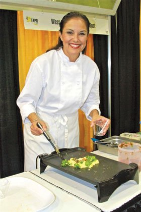 Food demonstrations with Chef Barbie Flores.