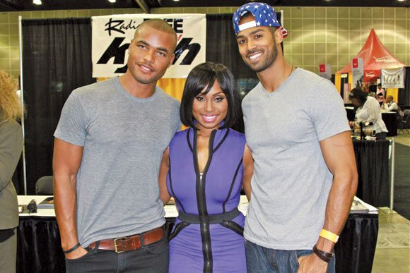 "Cast from ""The Young and the Restless"" at the KJLH exhibitor's booth."