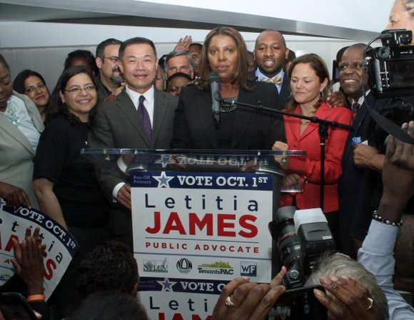 New York City Council Member Letitia James defeated New York state Sen. Daniel Squadron in Tuesday's public advocate runoff with ...