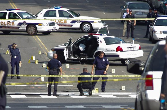 A woman was shot to death following a high-speed chase caught on video on Capitol Hill after she attempted to ...
