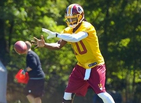 Don't ask RG3 to run more, get him more weapons.