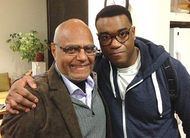 60's Civil Rights hero, Bob Moses, backstage at the A.R.T. over the weekend, when he came to see the production All the Way.  He is photographed with Eric Lenox Abrams, who played Bob Moses in the show.