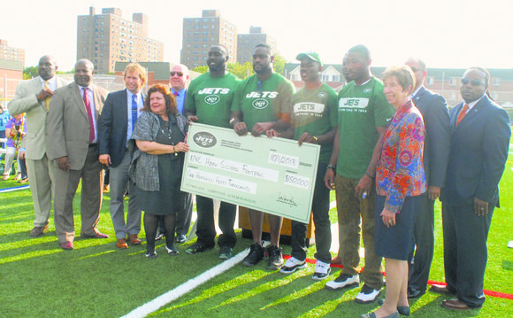 The New York Jets, National Football League (NFL) and Local Initiatives Support Corporation (LISC) New York City donated $350,000 in ...