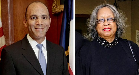Publisher Mollie Finch Belt of The Dallas Examiner and recently retired Chief Justice Wallace Jefferson, the first African American justice ...