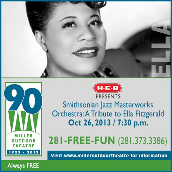 H-E-B Presents Smithsonian Jazz Masterworks Orchestra: A Tribute to Ella Fitzgerald - Oct 26, 2013 at 7:30 p.m.