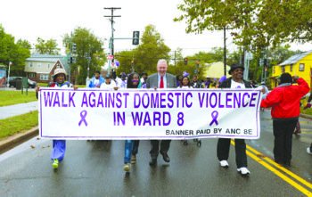 Hundreds walked to raise money for victims of domestic violence during the annual Ward