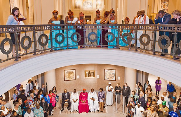 The recent celebration of Benin Kingdom Arts and Culture community event at the Museum of Fine Arts, Boston, was a big draw. (Photo courtesy of the Museum of Fine Arts, Boston)
