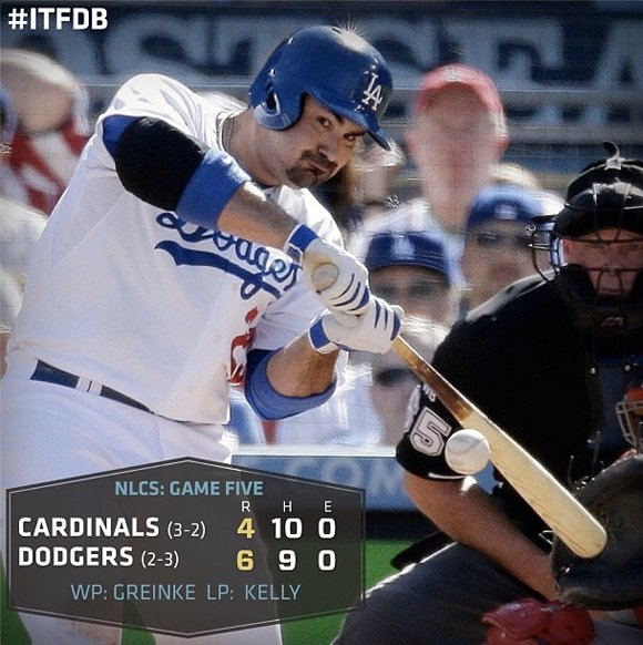 The Los Angeles Dodgers avoided elimination, defeating the St. Louis Cardinals, 6-4, in Game 5 of the National League Championship ...